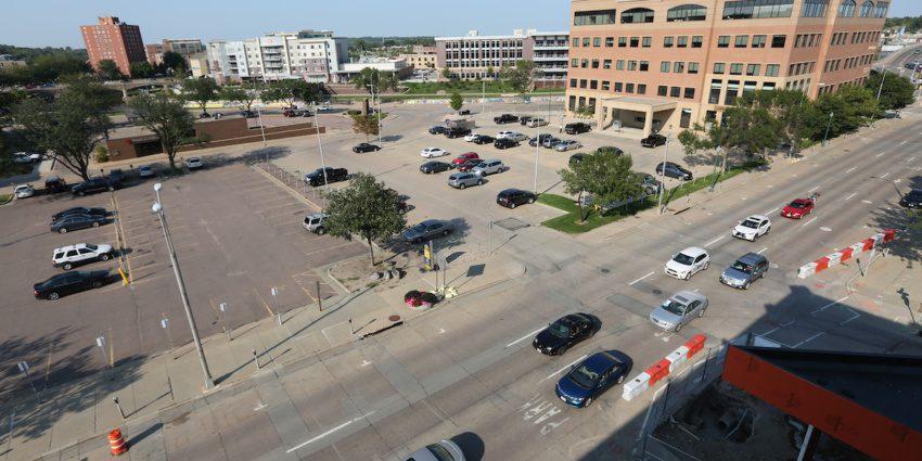 Downtown Sioux Falls parking ramp land