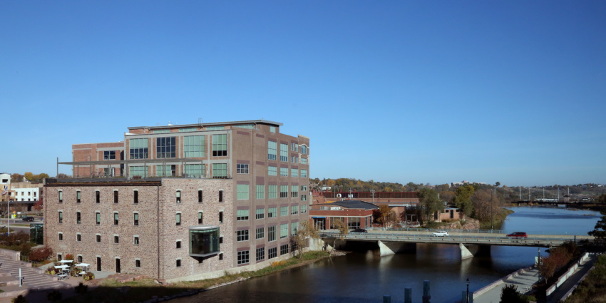 Big Sioux River downtown Sioux Falls