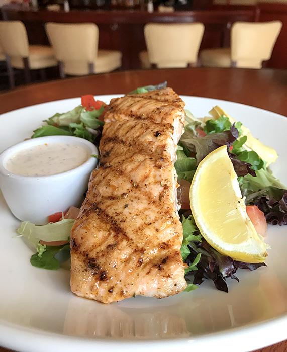 Minervas salmon asparagus salad