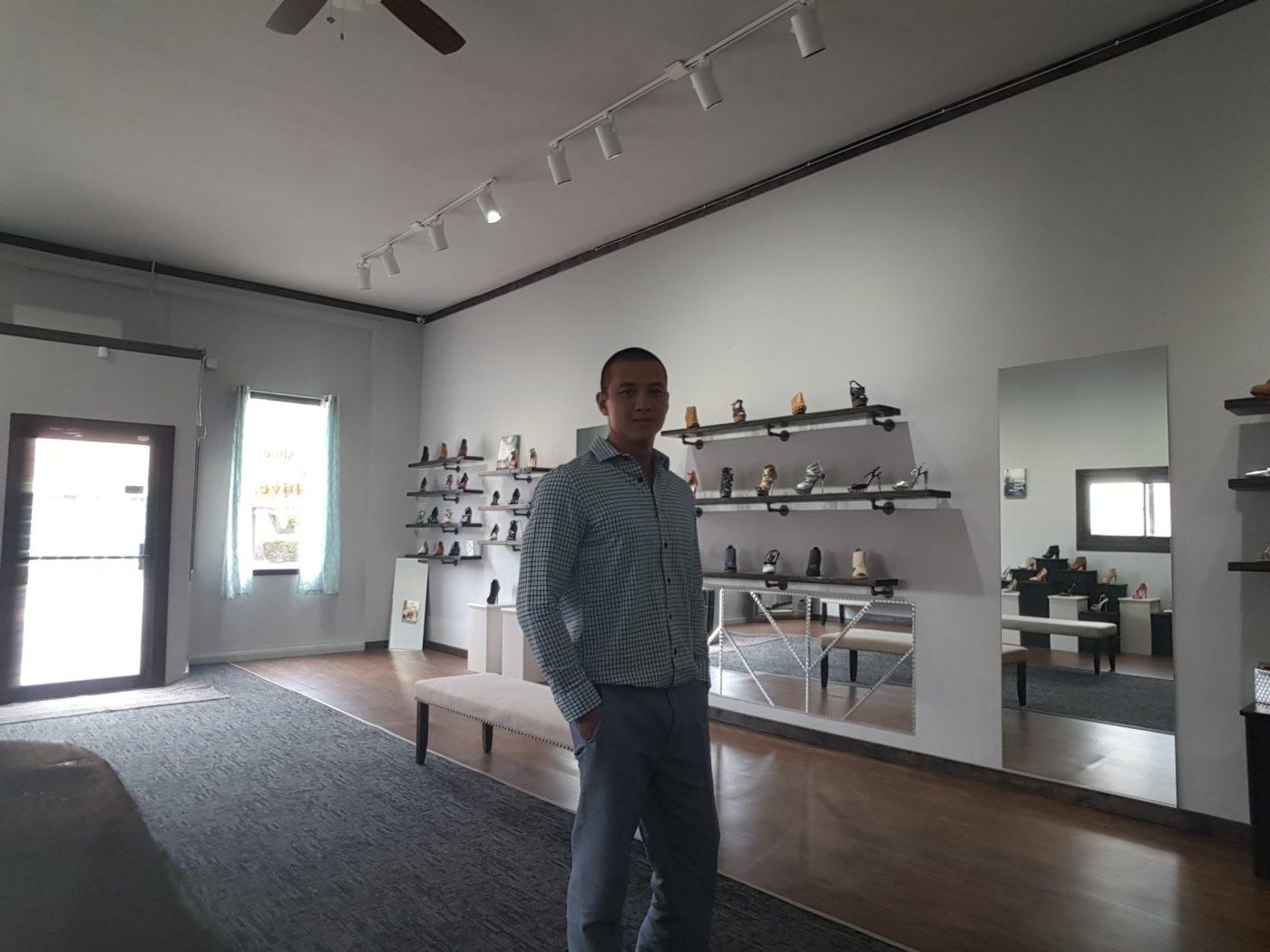 image inside shoe store