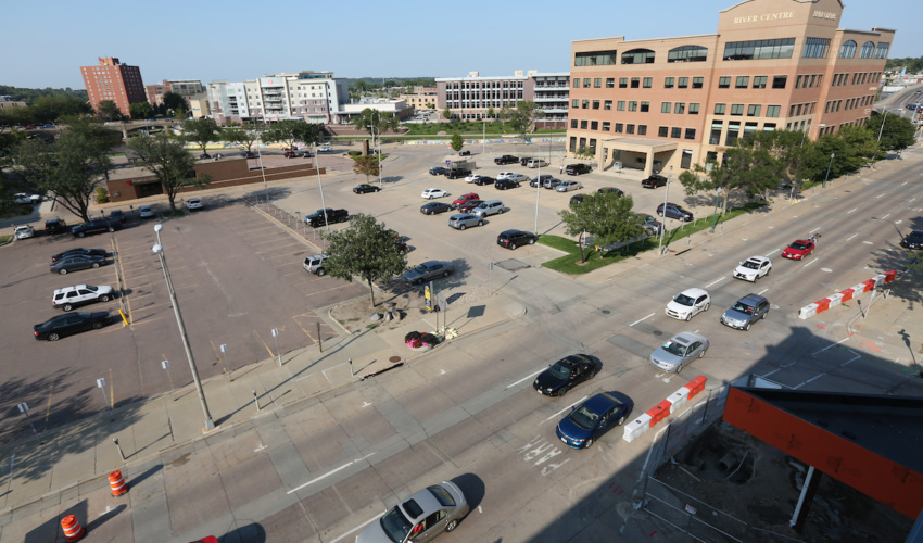 Downtown Sioux Falls parking ramp land