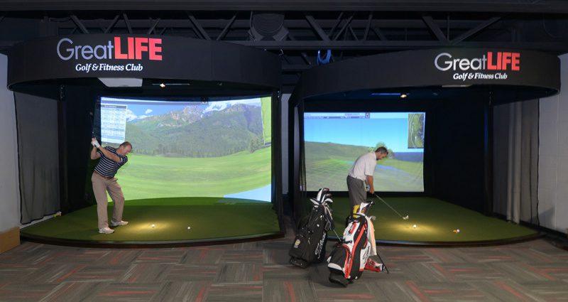golf simulators at GreatLIfe suburban lanes