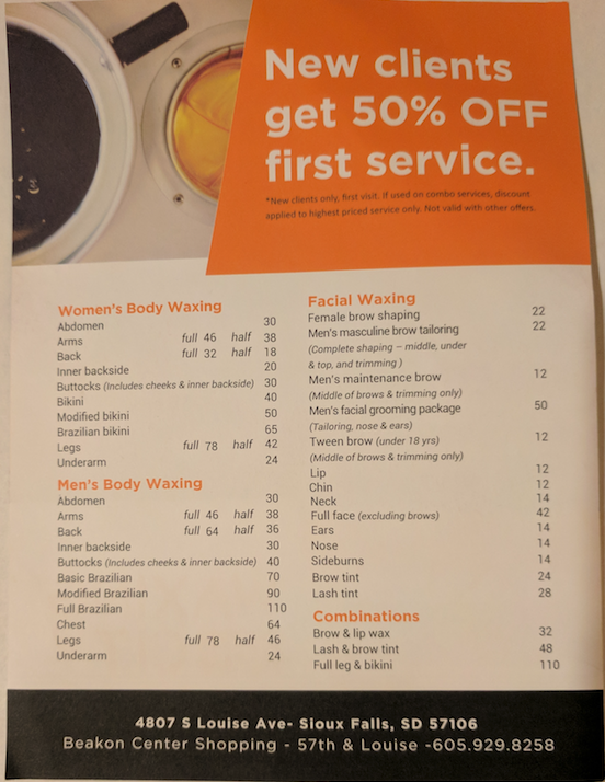 New business specializes in facial, body waxing – SiouxFalls